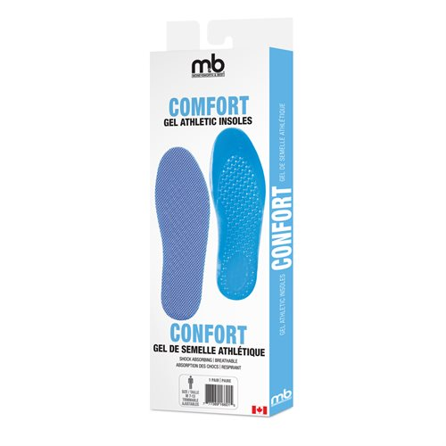 COMFORT GEL ATHLETIC INSOLES - ASSORTED SIZES