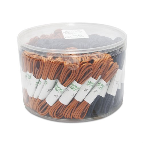 DRESS WAXED ROUND LACES 100 PACK 3 COLOURS