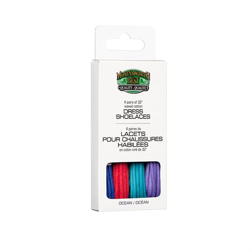 DRESS WAXED LACES 4 PACK - OCEAN