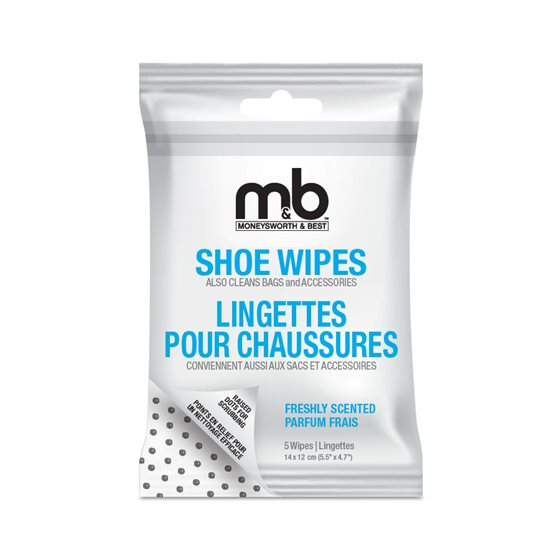 SHOE WIPES - 5 / PACK