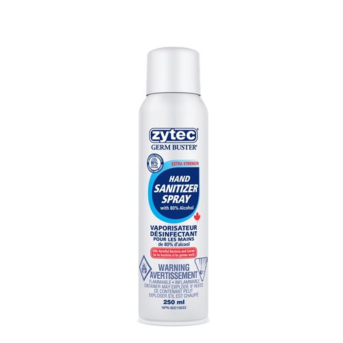 Zytec Hand Sanitizer 80% Spray 250ML
